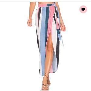 Mara Hoffman Farrah Wrap Stripe Midi Skirt